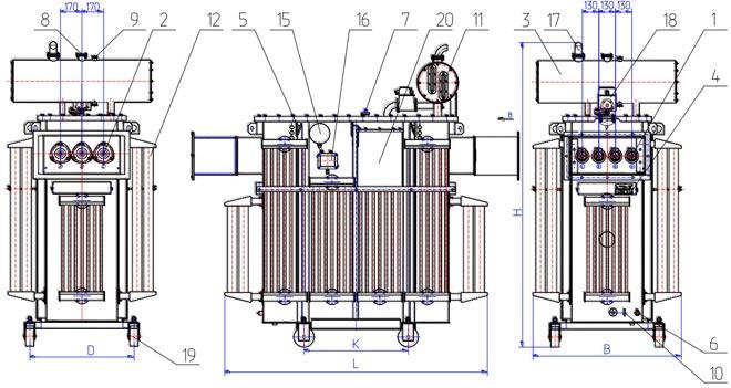 Технические данные трансформатора тмф