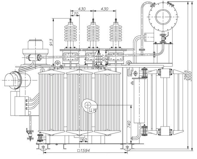 Вид трансформатора ТМН-2500/35-У1