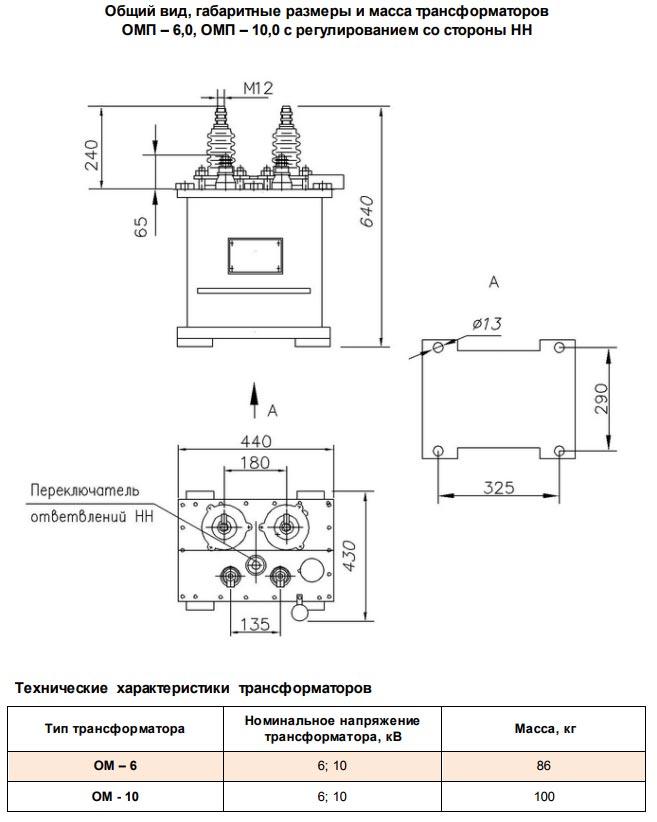 Характеристики опм-10